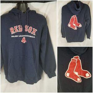 Boston Red Sox MLB Baseball Hoodie Navy Red
